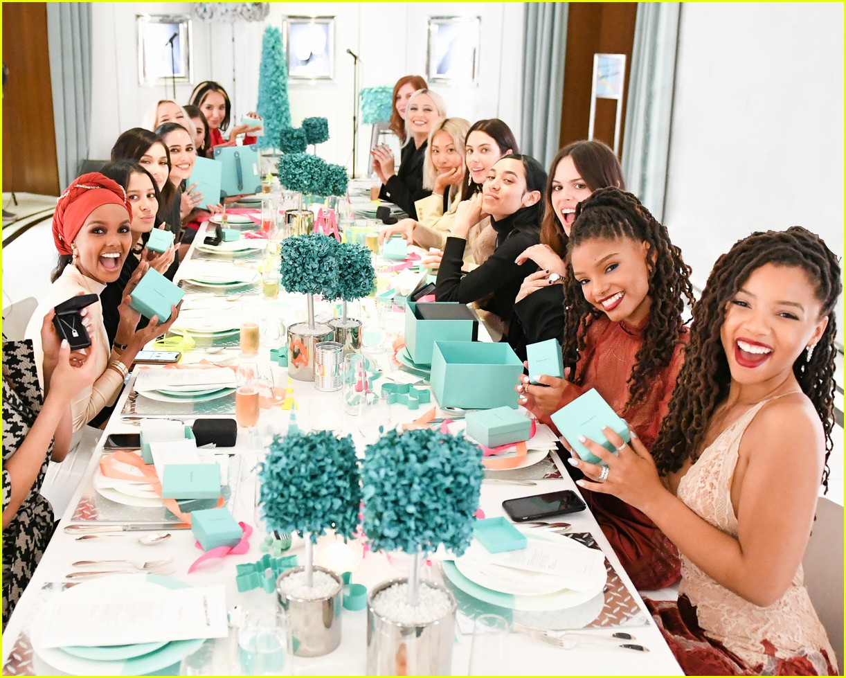 shay mitchell and rowan blanchard have girls night in with tiffany and co 364190548