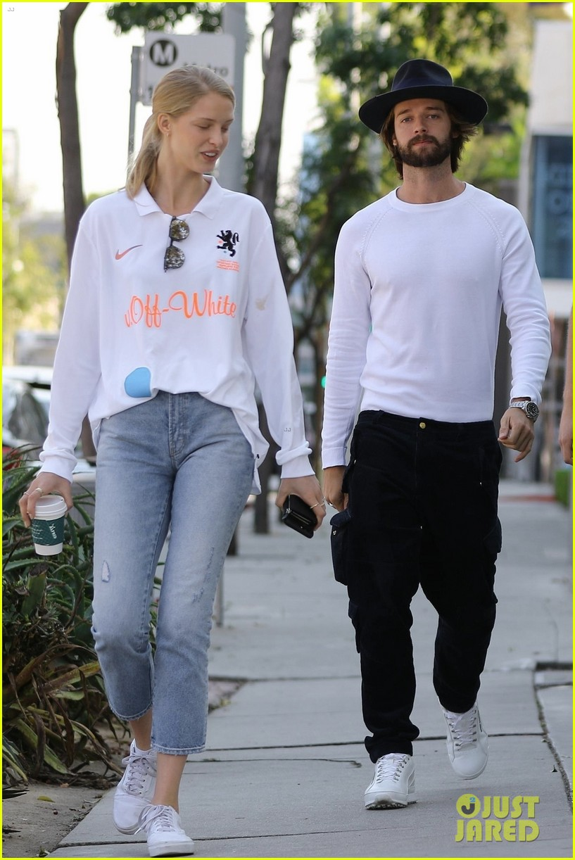 patrick schwarzenegger abby champion wear white months after labor day 02