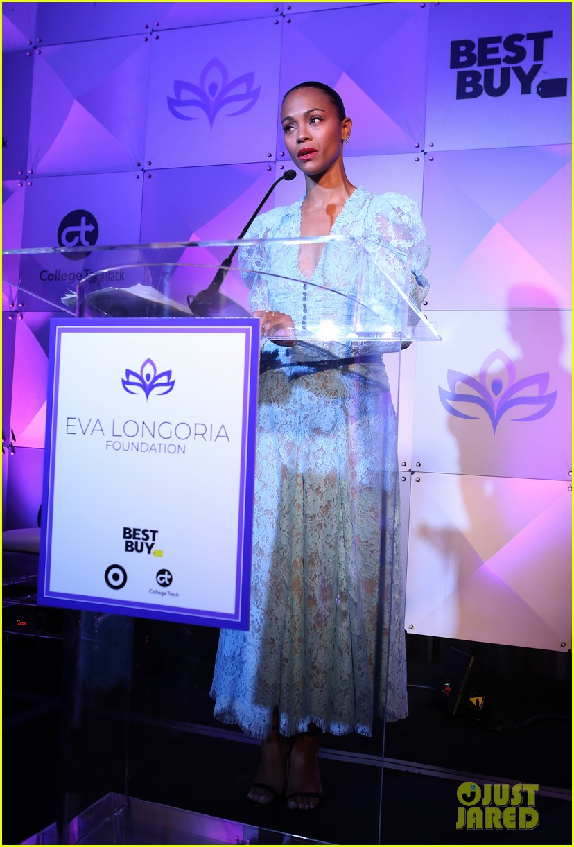 zoe saldana gets star studded support at eva longoria foundation dinner gala 1034178894