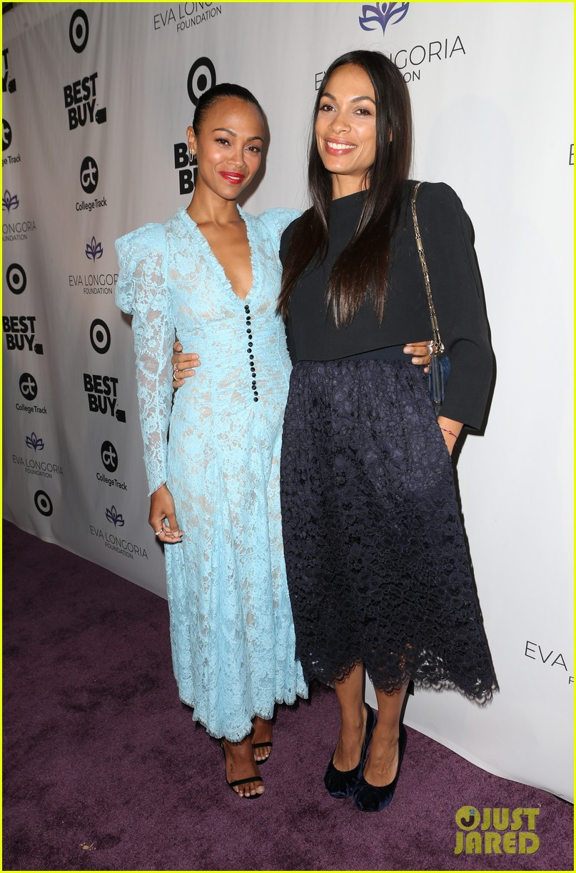 zoe saldana gets star studded support at eva longoria foundation dinner gala 464178934