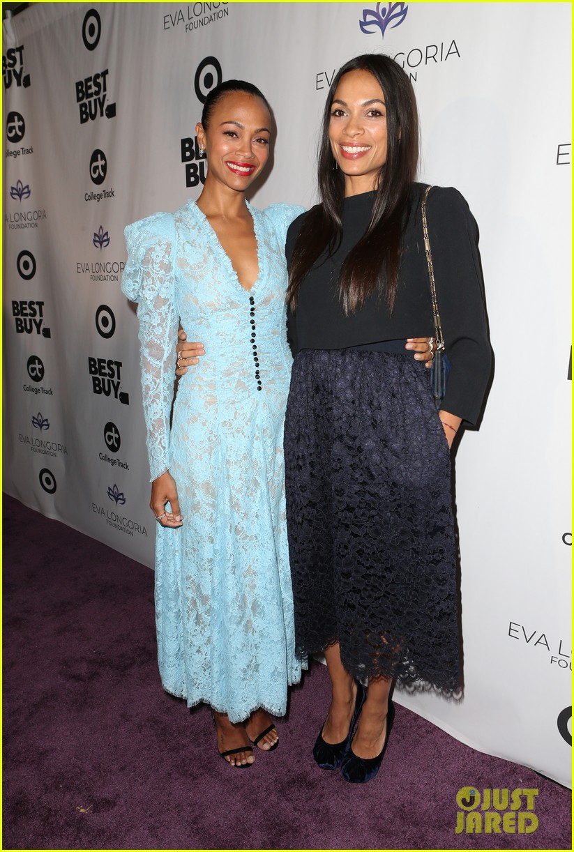 zoe saldana gets star studded support at eva longoria foundation dinner gala 474178935