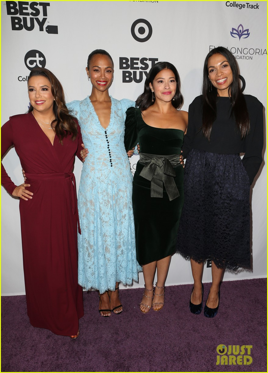 zoe saldana gets star studded support at eva longoria foundation dinner gala 564178944
