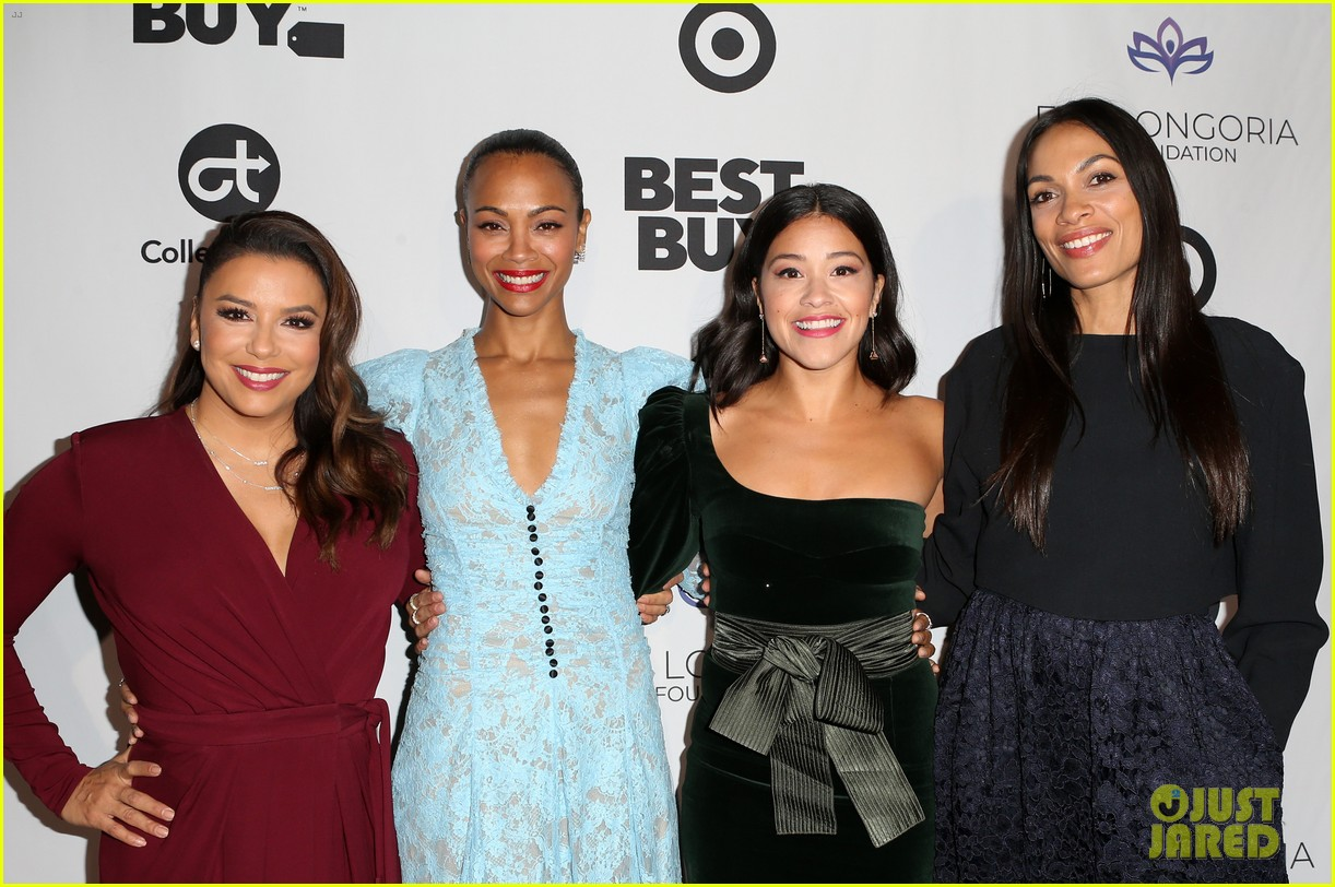 zoe saldana gets star studded support at eva longoria foundation dinner gala 584178946