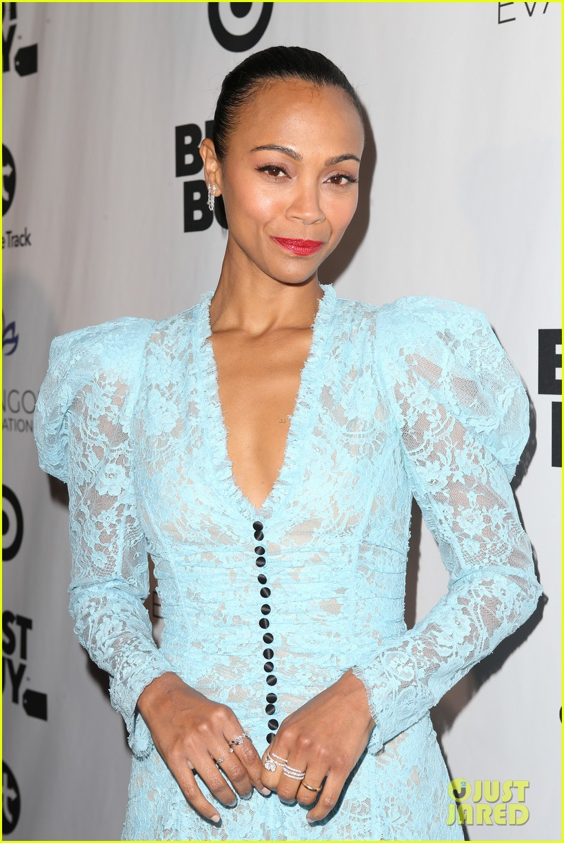 zoe saldana gets star studded support at eva longoria foundation dinner gala 614178949