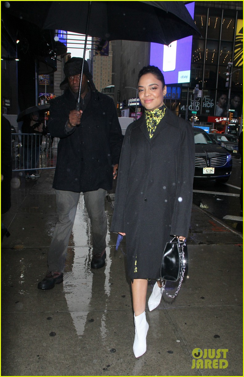 tessa thompson braves the snow while promoting creed 2 034184267