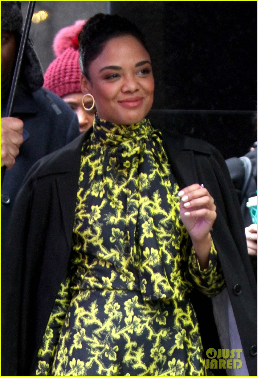 tessa thompson braves the snow while promoting creed 2 044184268