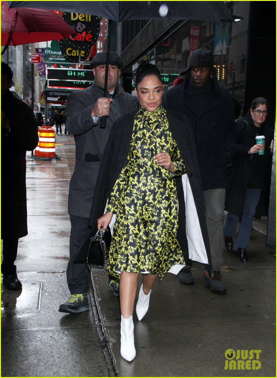 tessa thompson braves the snow while promoting creed 2 054184269