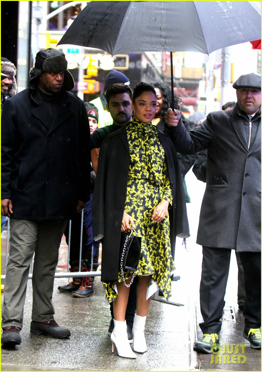 tessa thompson braves the snow while promoting creed 2 074184271