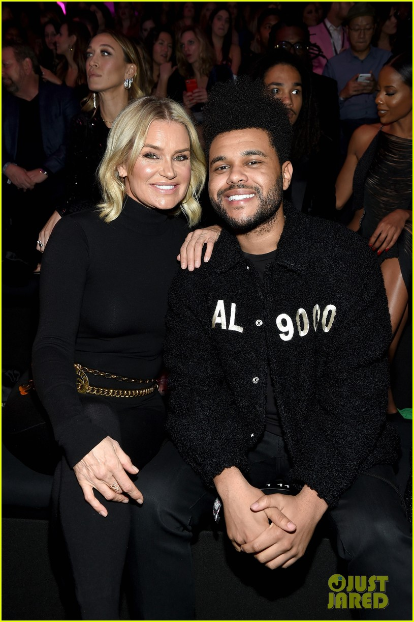 the weeknd supports bella hadid at victorias secret fashion show 024178621