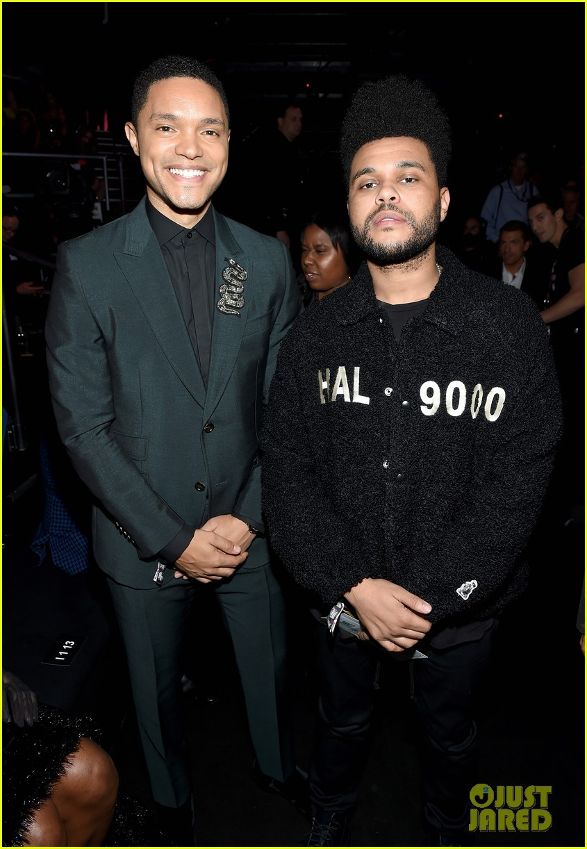 the weeknd supports bella hadid at victorias secret fashion show 064178625