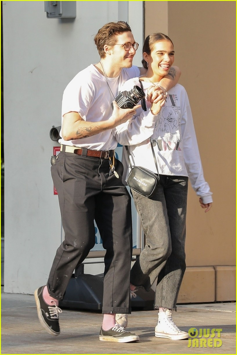 Brooklyn Beckham Packs On Pda With Model Hana Cross Photo