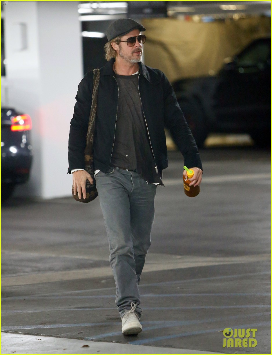 brad pitt gets to work after birthday 014200848