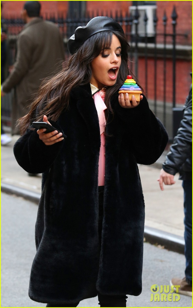 camila cabello eats cupcakes plays with dogs filming new commercial 024194645
