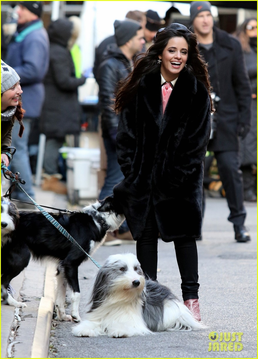 camila cabello eats cupcakes plays with dogs filming new commercial 034194646