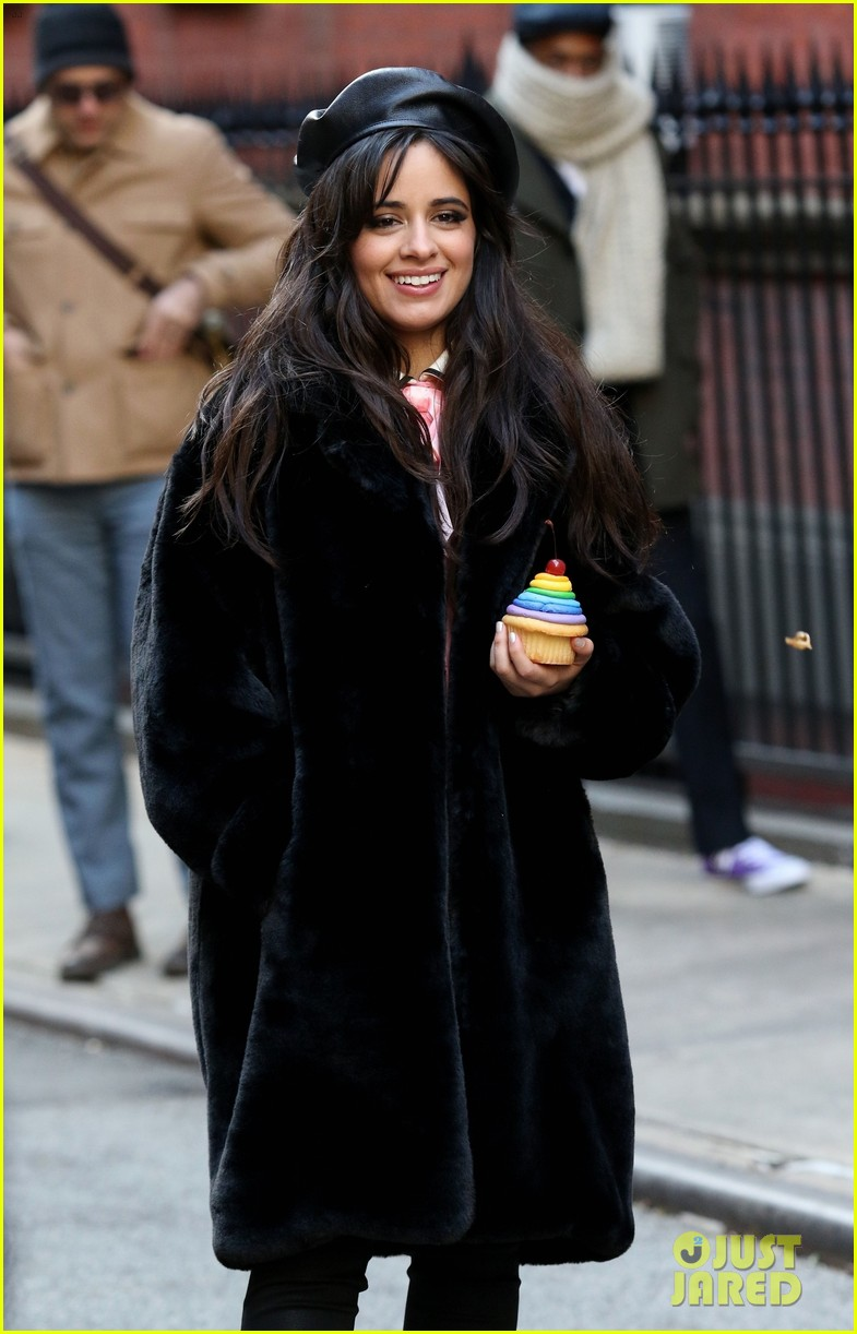camila cabello eats cupcakes plays with dogs filming new commercial 044194647