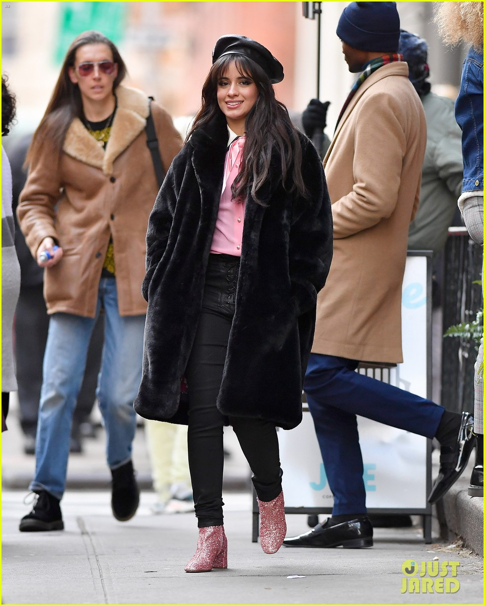 camila cabello eats cupcakes plays with dogs filming new commercial 054194648