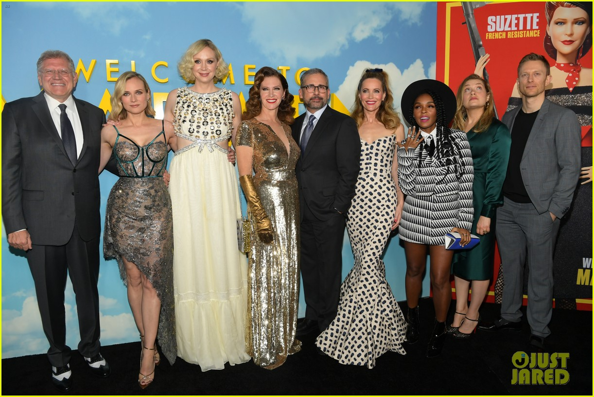 steve carell joins welcome to marwen cast at premiere 324196978