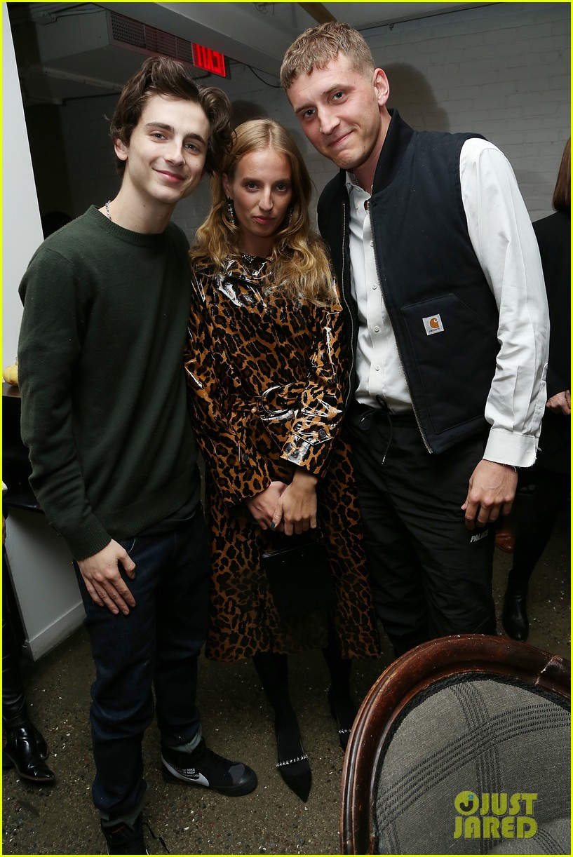 timothee chalamet attends beautiful boy reception with nic sheff 02