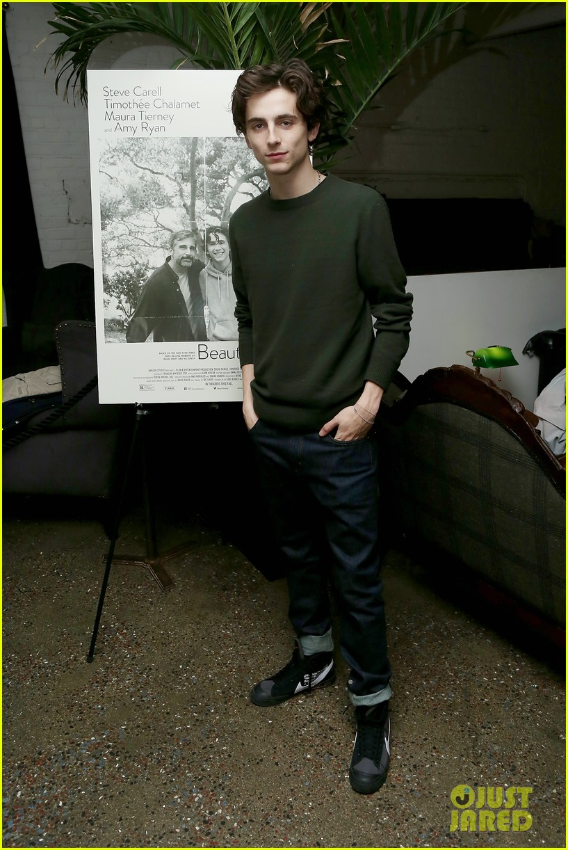 timothee chalamet attends beautiful boy reception with nic sheff 03