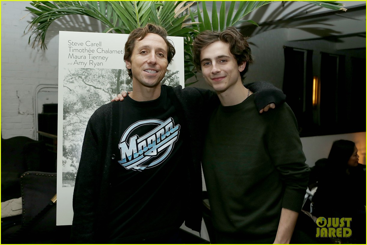 timothee chalamet attends beautiful boy reception with nic sheff 04
