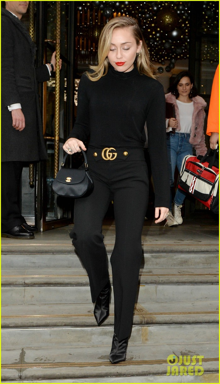 miley cyrus keeps it classy in all black outfit while out in london 054194027