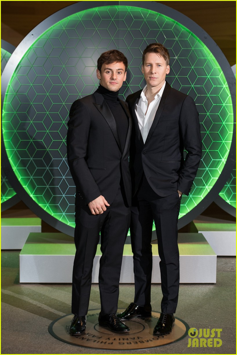 tom daley dustin lance black couple up at vanity fair x bloomberg climate change gala 11