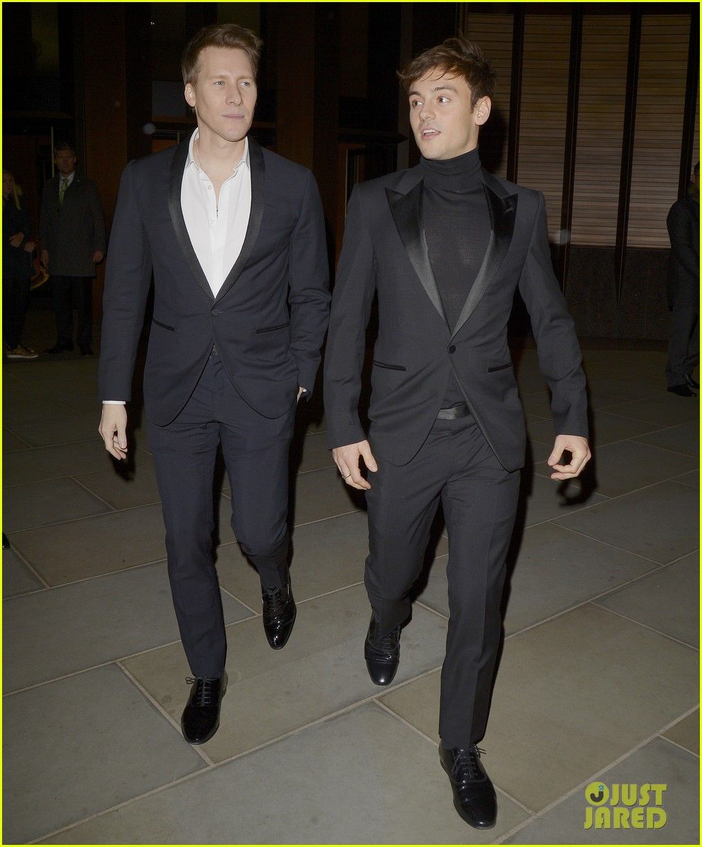 tom daley dustin lance black couple up at vanity fair x bloomberg climate change gala 12