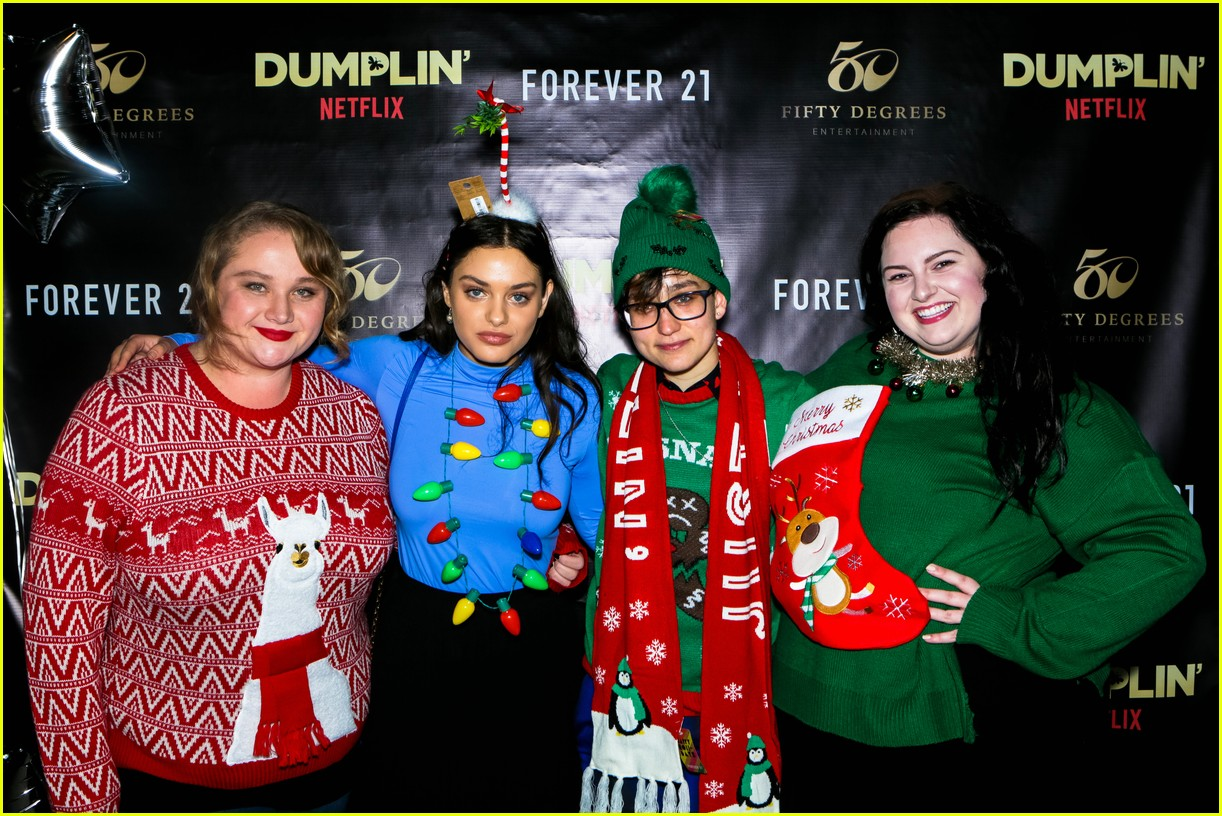The Ugly Christmas Sweater Party.Netflix S Dumplin Stars Celebrate Movie Release At An Ugly
