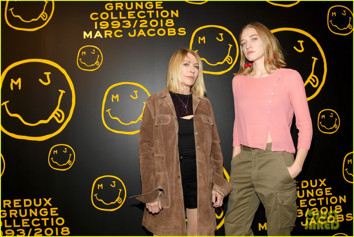 gigi hadid and kaia gerber stun in stripes at marc jacobs madison store opening 134192581