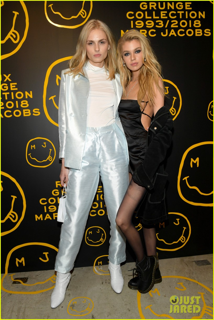 gigi hadid and kaia gerber stun in stripes at marc jacobs madison store opening 204192588