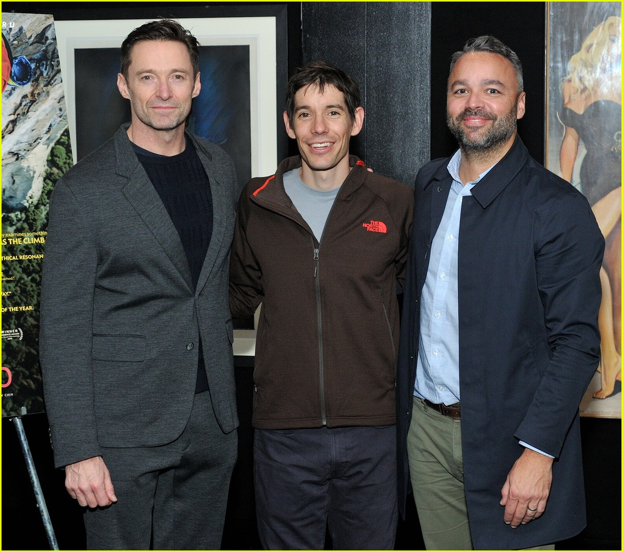 hugh jackman hosts special screening of free solo in nyc 084194633