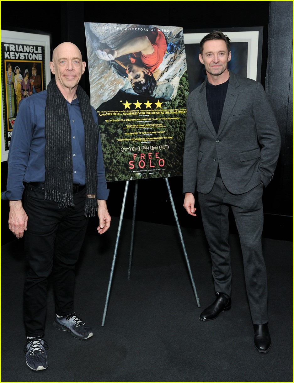 hugh jackman hosts special screening of free solo in nyc 134194638