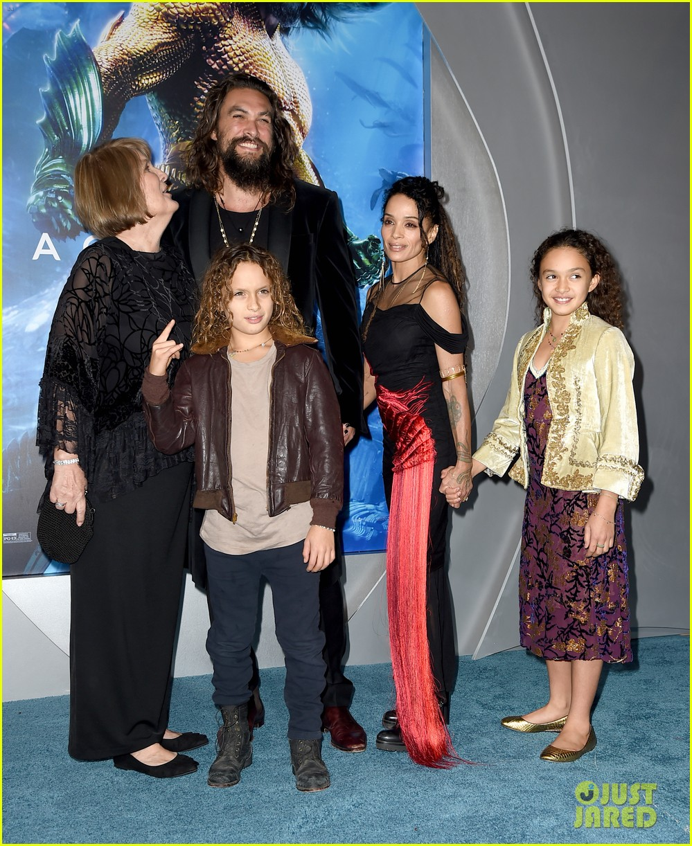 Jason Momoa Takes A Stroll With His Kids: Jason Momoa Gets Support From Wife Lisa Bonet, Mom & Kids