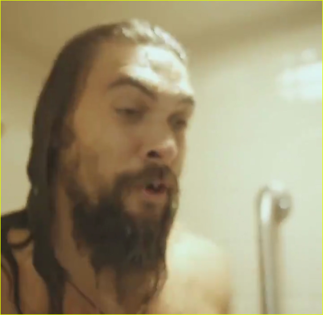 Jason Momoa Goes Shirtless While Promoting 'SNL' From The