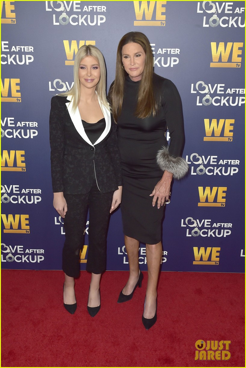 caitlyn jenner gets support from sophia hutchins at love after lockup return celebration 364197596