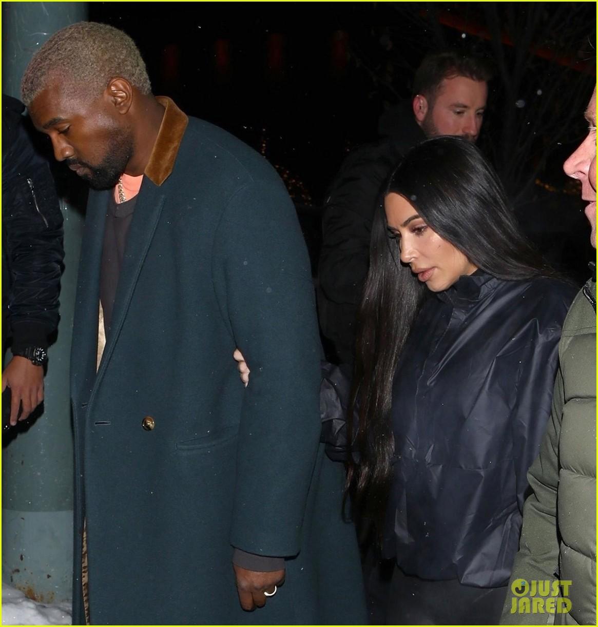 kim kardashian and kanye west head to dinner in aspen 014203837