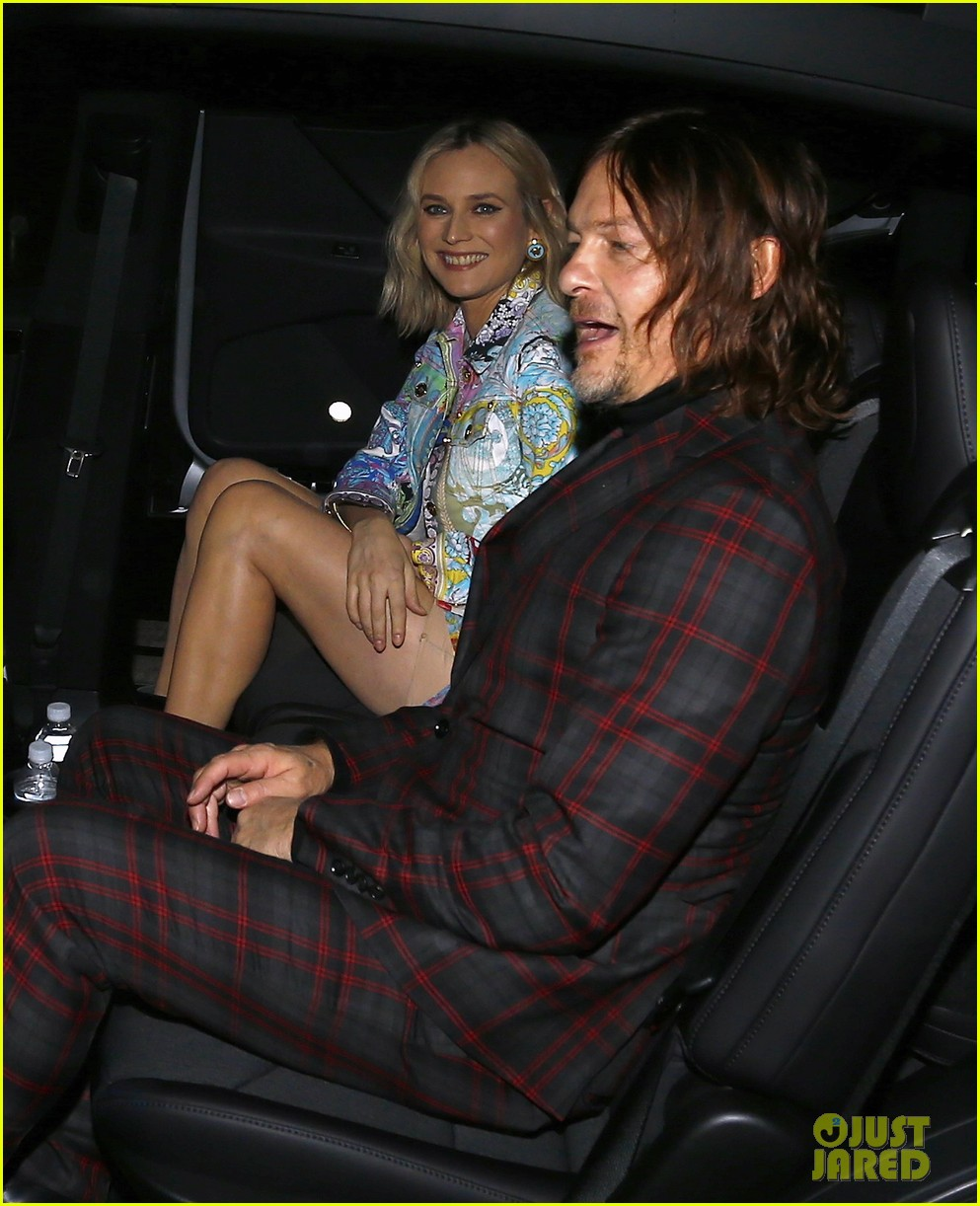 diane kruger boyfriend norman reedus couple up at versace pre fall 2019 runway show 174191832