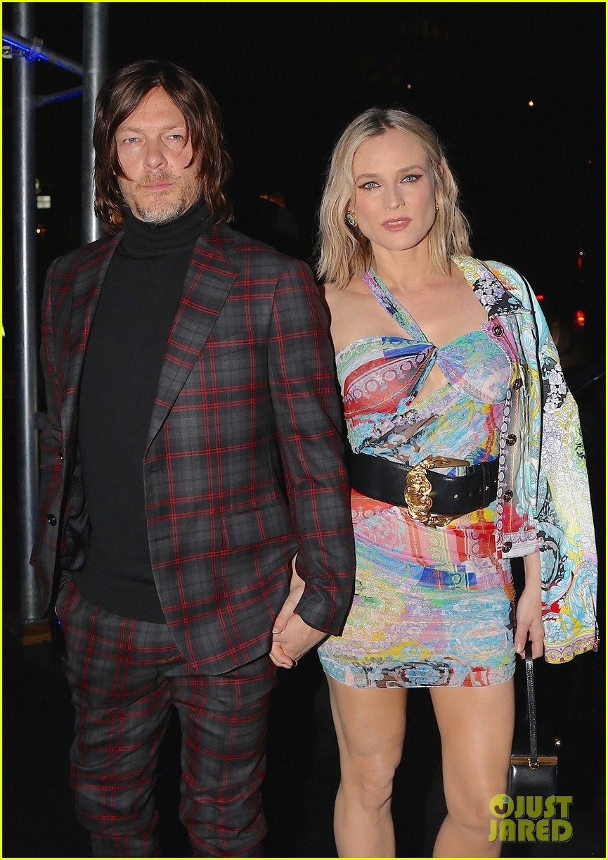 diane kruger boyfriend norman reedus couple up at versace pre fall 2019 runway show 234191838