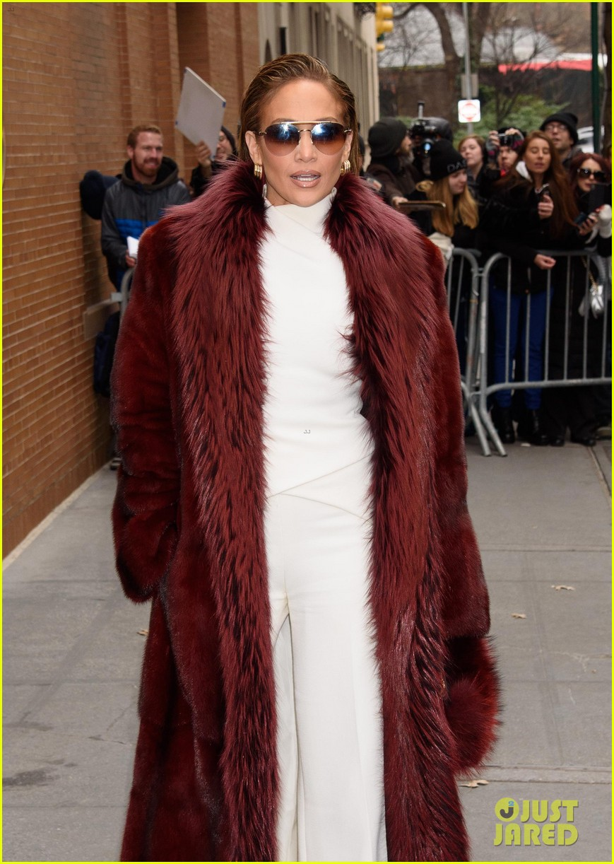 jennifer lopez switches up her outfits for second act promo in nyc 164198232