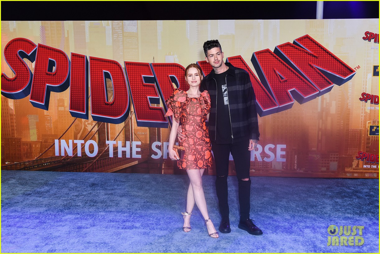 madelaine petsch travis mills couple up at spiderman premiere 034191311