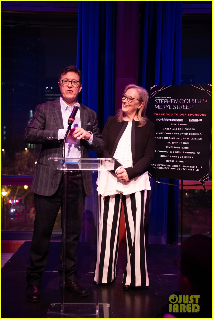 Meryl Streep & Stephen Colbert Have Fun Together at Their