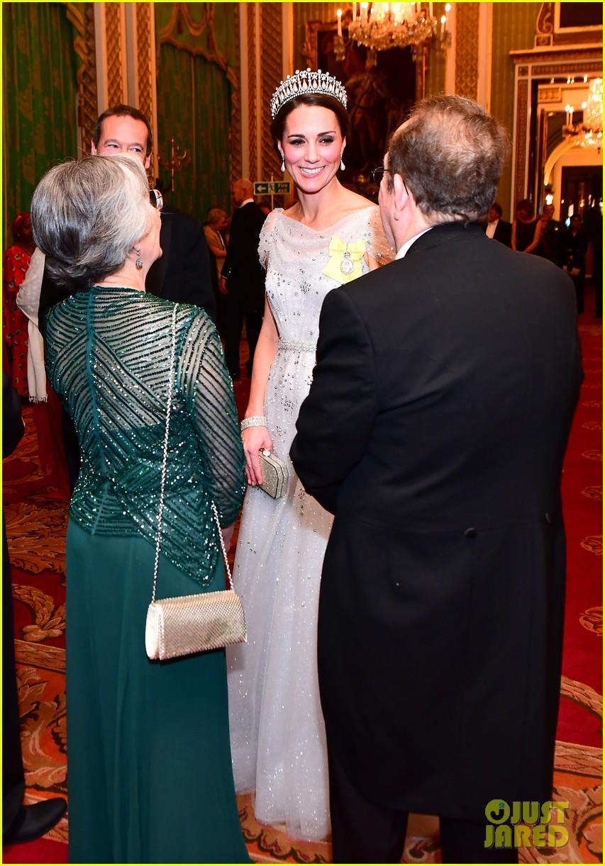 Kate Middleton Diplomatic Reception Buckingham Palace 04 Wears Princess Dianas Favorite Tiara
