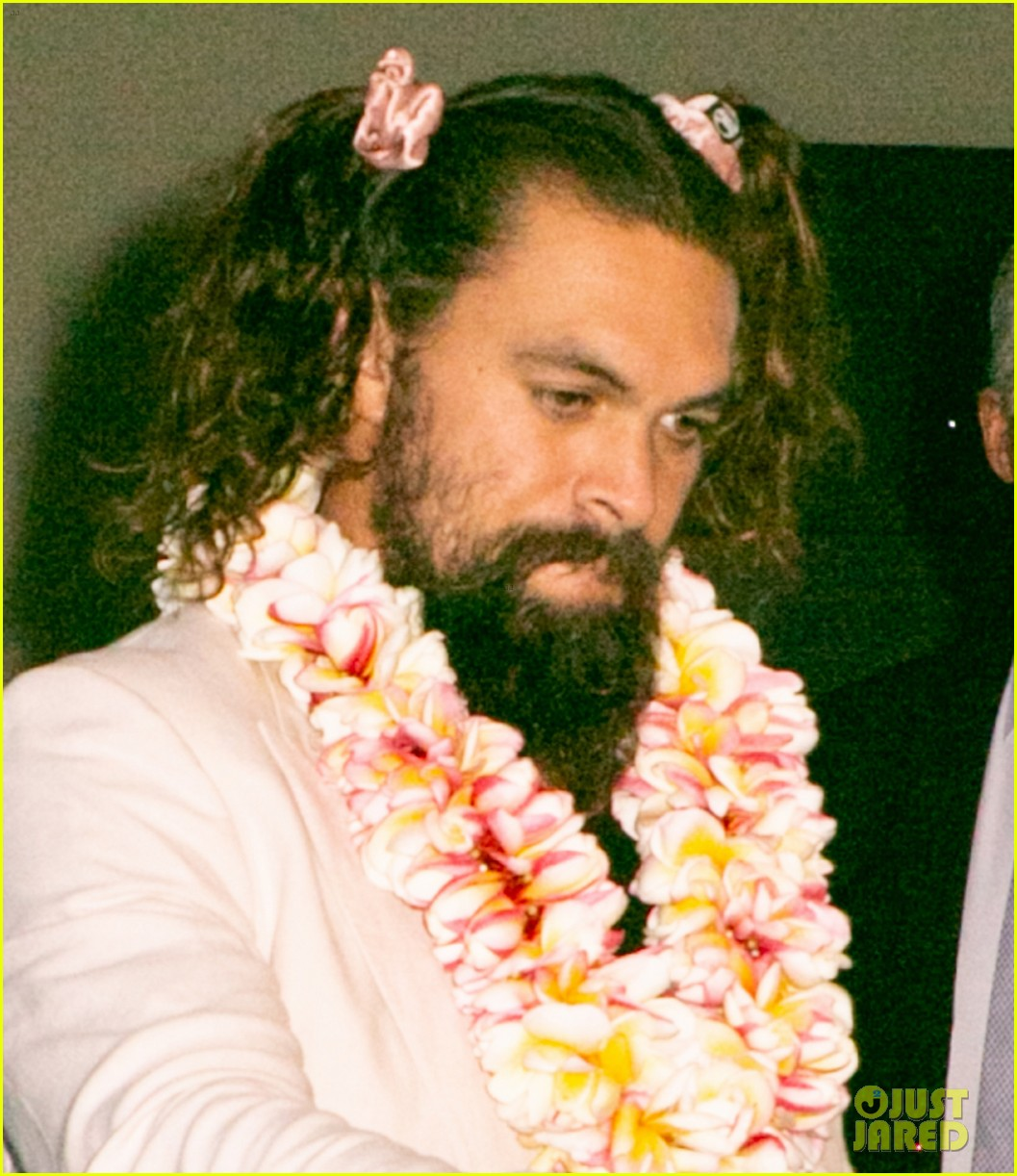 Jason Momoa Pink: Jason Momoa Wore His Hair In Pigtails This Week!: Photo