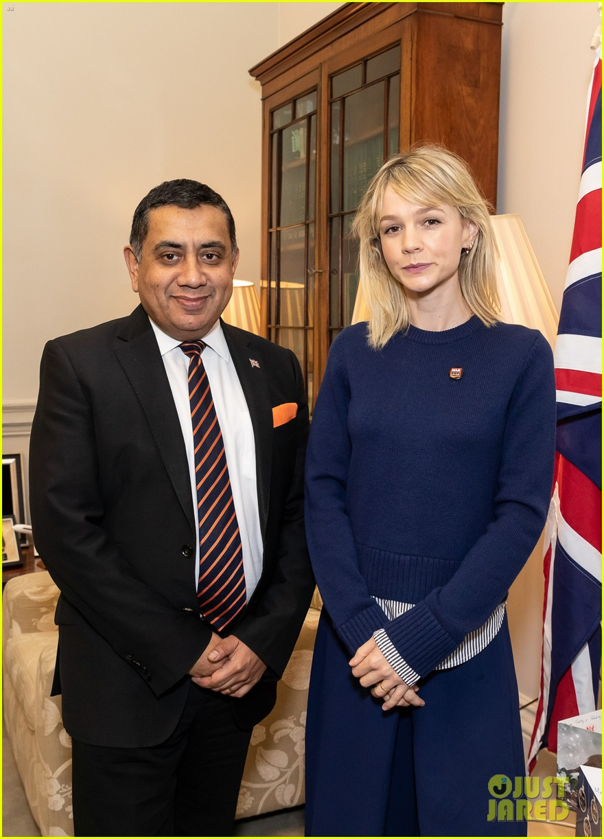 carey mulligan meets with lord ahmad in support of children affected by armed conflict 02