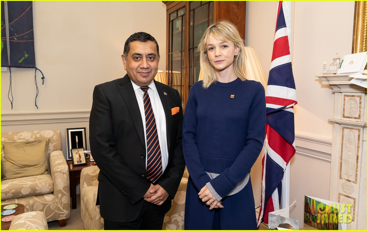carey mulligan meets with lord ahmad in support of children affected by armed conflict 03