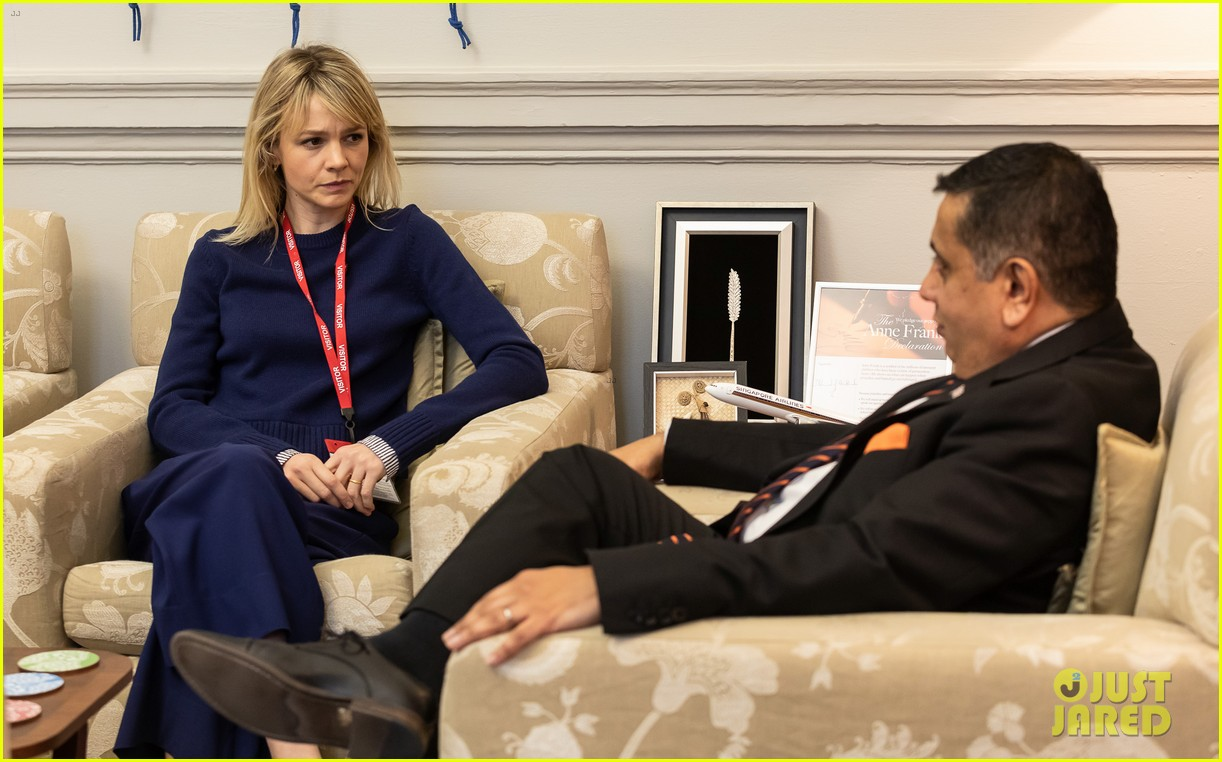 carey mulligan meets with lord ahmad in support of children affected by armed conflict 05