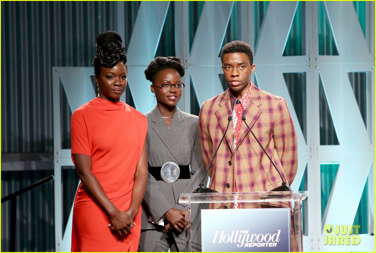Danai Gurira Surprised Lupita Nyong'o With a Birthday Cake in the Middle of an Awards Show