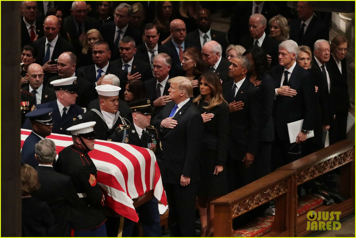 past current presidents george h w bush funeral 15
