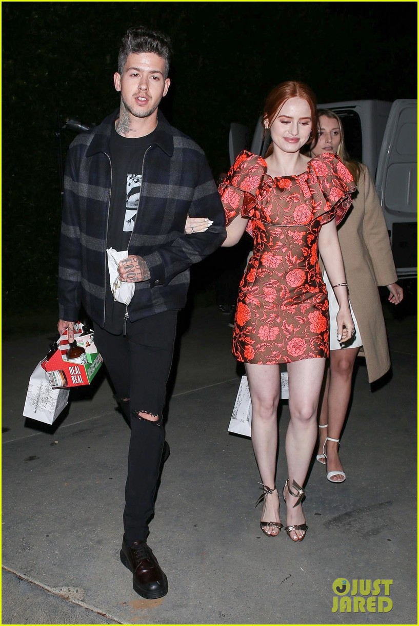 madelaine petsch travis mills jennifer klein holiday party 034192300