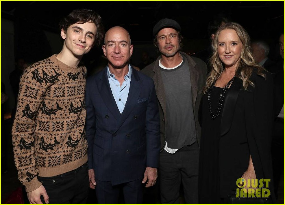 brad pitt timothee chalamet katy perry more get festive at amazon studios holiday party 014191893